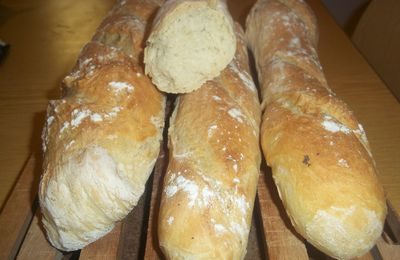 Mes baguettes version poolish !!!!