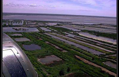 vues aérienes du bassin d'arcachon