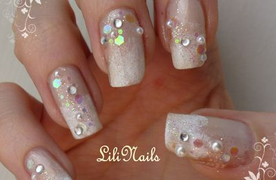 Nail Art Sparkling Cotton