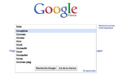 La liste des mots blacklistés par Google Instant
