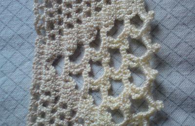 Exercixe de crochet #6: Bordure jaune pastel