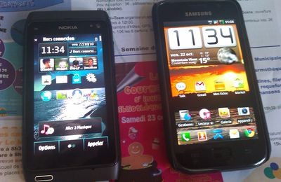 Comparaison Menu Nokia n8 (s^3) vs Samsung Galaxy S (android 2.2)