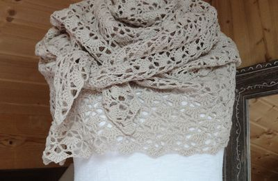 "Mon premier ""South Bay Shawlette""..."