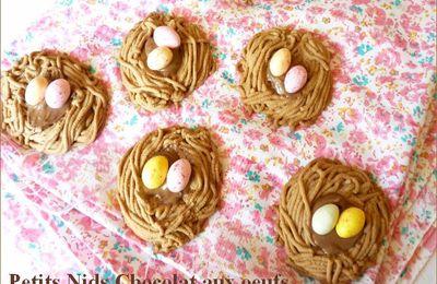 Petits nids chocolat aux oeufs