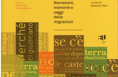 """Rodolfo RICCI, note introductive a """"Racconti dal mondo"""", 17 nouvelles parmi lesquelles des nouvelles d'immigrés écrivant en italien, et 7 essais très documentés sur l'immigration et l'émigration."""
