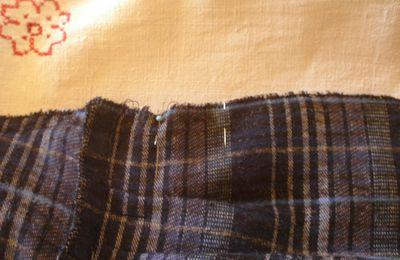Tuto mini jupe plissée : suite et fin