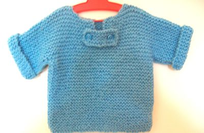 TRICOT : TUTO PULL BEBE (1an)