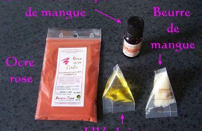 Cosmétique maison : baume lèvres à la mangue
