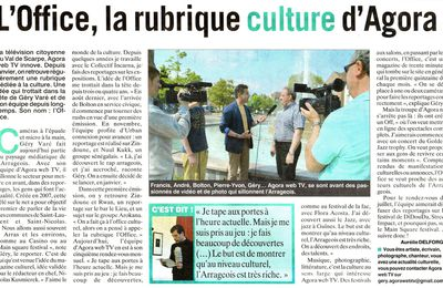 Presse : L'Office, la rubrique culture d'Agorawebtv