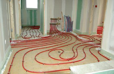 J+242 (14 janv): plancher chauffant du 1er étage