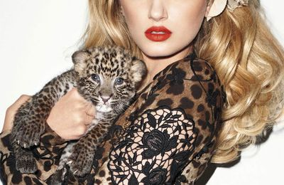 HARPER'S BAZAAR :REAL Baby LEOPARDS ARE NOT SPRING FASHION !