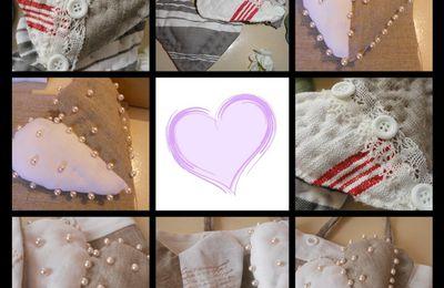Mosaique de coeurs