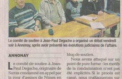 Revue de presse suite à la table ronde