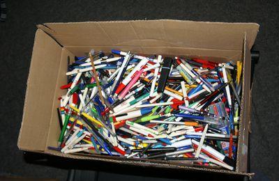 Un colis de stylos pour Terracycle