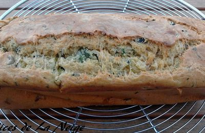 Cake courgette, moutarde et olive