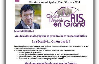 Ris-Orangis : la liste d'opposition veut équiper la Police Municipale de moyens de défense adaptés comme à Courcouronnes et Evry