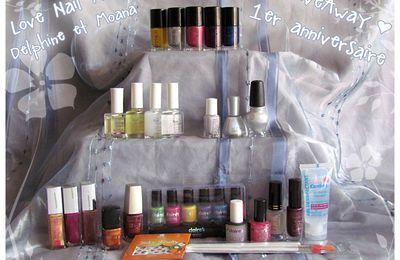 GiveAway 1 an LoveNailArt : résultats !
