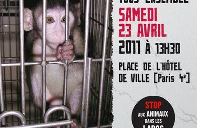 Samedi 23 avril 2011 : marche européenne contre la vivisection
