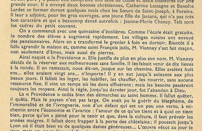 Lecture: La Providence d'Ars
