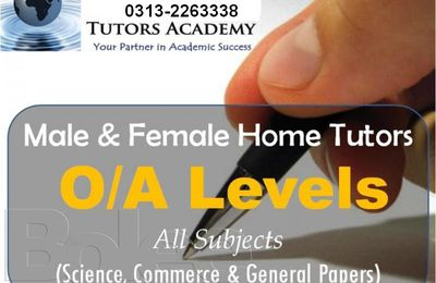 Karachi Home tutors O/A level Matric tuition Teachers Call 0345-3284650