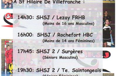 Handball à l'affiche ce week-end