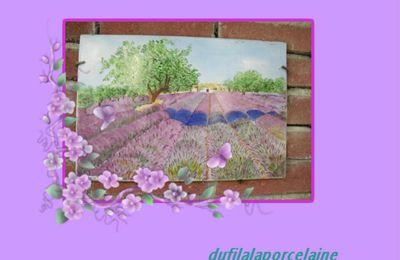 Une plaque au décor de Provence.....