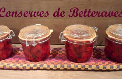 Conserves de betteraves au naturel