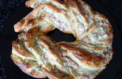 Kringle salé jambon-chèvre