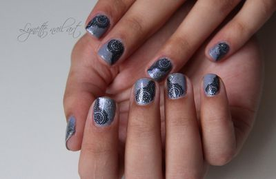 Nail art - Water decal indien