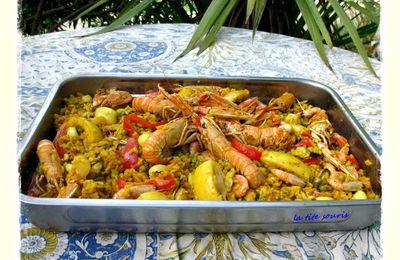 Paella valenciana aux fruits de mer (à ma façon)