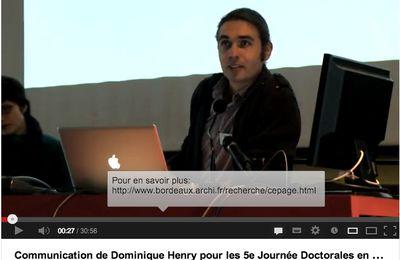 5ème Journées doctorales en paysage (suite en vidéo)