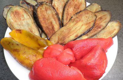 Gratin d'aubergines et poivrons façon parmesane