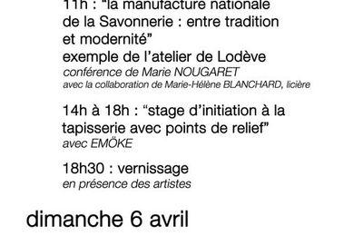 Exposition Tapisserie Vivante du 4 au 26 avril 2014