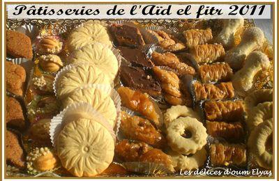 Plateau des pâtisseries préparées pour l'Aïd el fitr