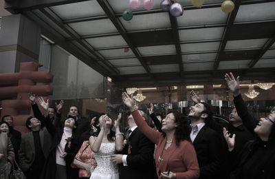 Lacher de ballons - Chinese wedding at Baoding