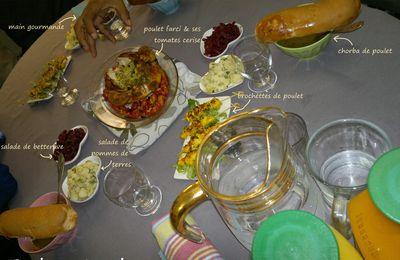 Poulet farci aux vermicelles & sa chorbah (menu de l'aid)