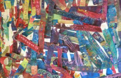 Peinture libre et graphisme : oeuvre collective