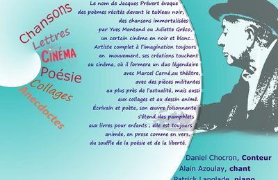 Prévert raconté en chansons et en image, sur Seine...