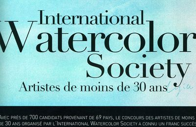 Palmarès du International Young Watercolor Contest by IWS
