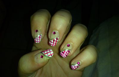 Nail art quadriller
