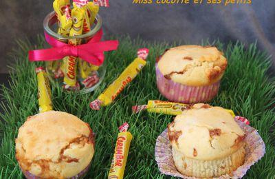 Muffins au chocolat blanc et carambars