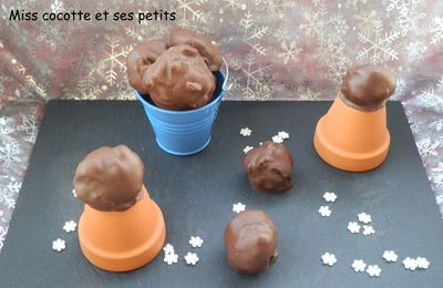Rochers croquants caramel et chocolat