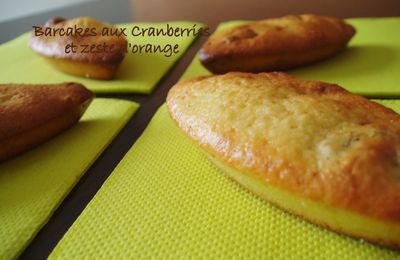 """barcakes"" aux cranberries et zeste d'orange"