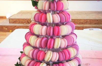 ma pyramide de Macarons réalisés grâce à mon Cook'in !!