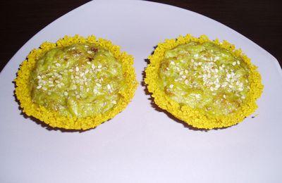 "Tartelette ""Couscous"" au Curcuma et haricot vert (mascarpone)"