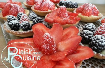Tartelettes gourmandes aux fraises ..... version Cook'in
