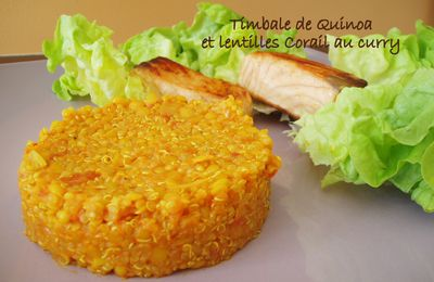 Timbale de quinoa et lentilles corail au curry: version Cook'in