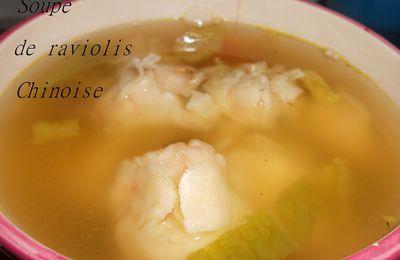 Raviolis vapeur à la crevette et son bouillon de légumes