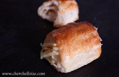 Manchons au fromage « salé à la pate feuilleté »
