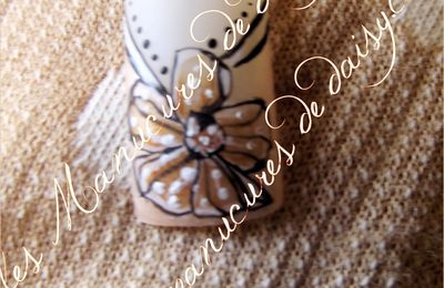 French cocarde retro nail art
